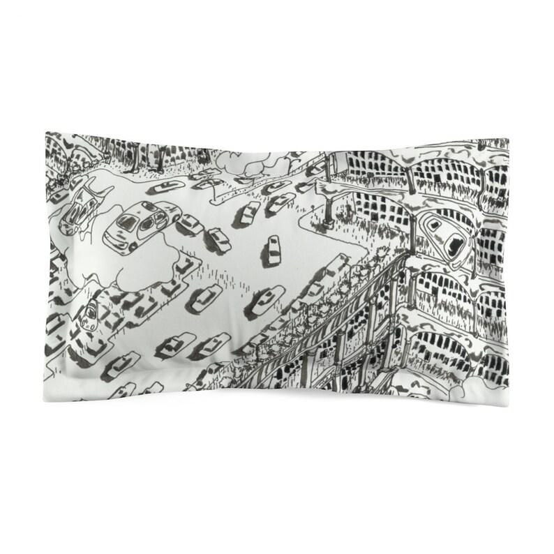 Cool Art Microfiber Pillow Sham 16  Retro custom gift image 0