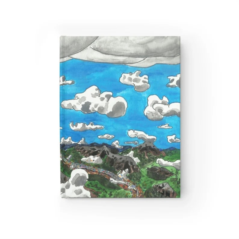 Blank Journal With Urban Art Cover 27  Retro custom gift image 0