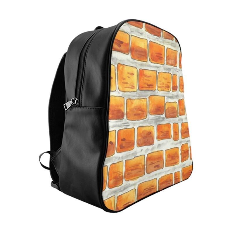 Cool Art PU Leather Backpack 3 sizes 10  Retro custom gift image 0