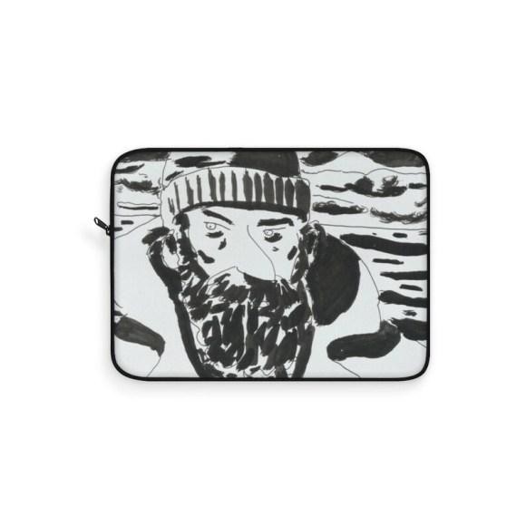 Urban Art Laptop Sleeve 21  Retro custom gift line art pop image 0