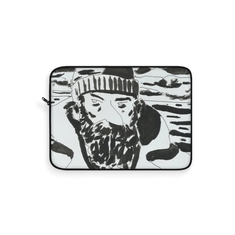 Cool Art Laptop Sleeve 21  Retro custom gift line art pop image 0