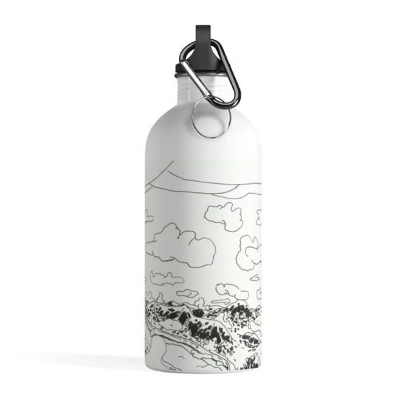 Urban Art Water Bottle 5  Retro custom gift pop art line image 0