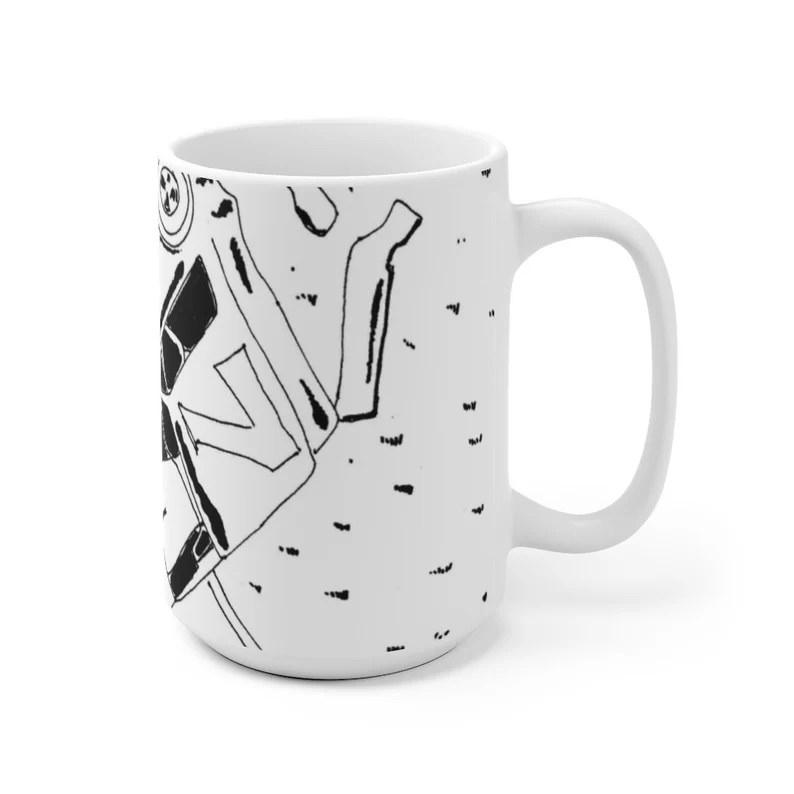 Urban Art Mug 2 sizes 48  Retro custom gift unique mugs image 0