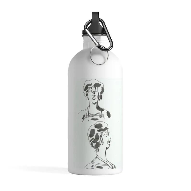 Urban Art Water Bottle 26  Retro custom gift pop art line image 0