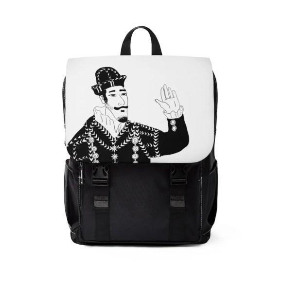 Urban Art Canvas Mini Backpack 3  Retro custom gift image 0