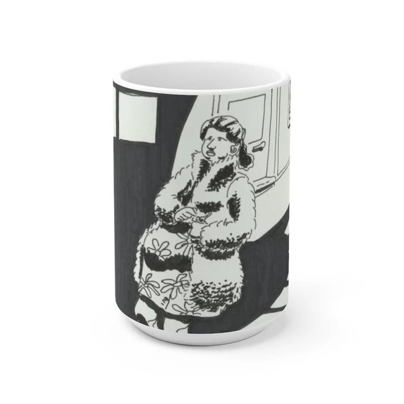 Cool Art Mug 2 sizes 2  Retro custom gift unique mugs with image 0