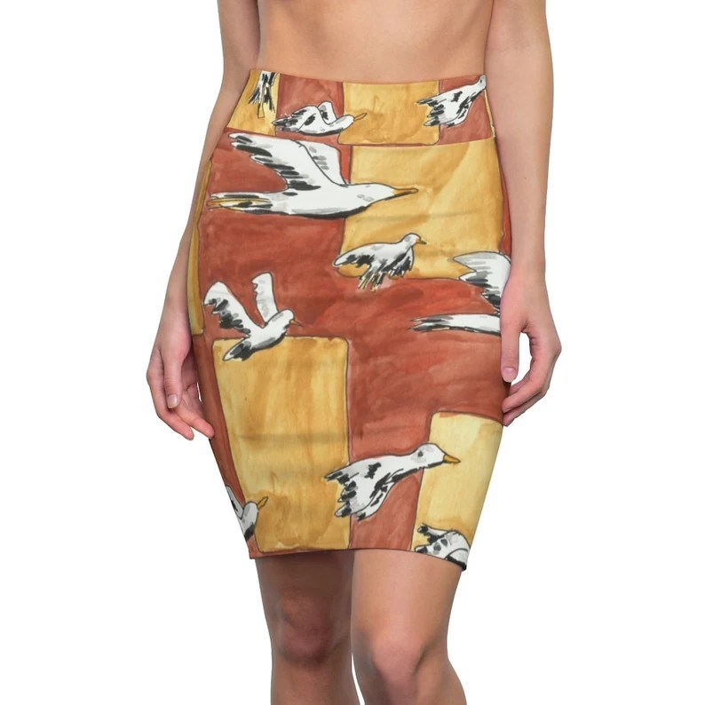Urban Art Pencil Skirt 3  Retro custom gift  skirts dresses image 0