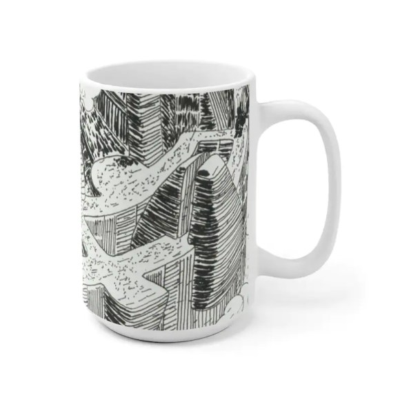 Urban Art Mug 2 sizes 16  Retro custom gift unique mugs image 0