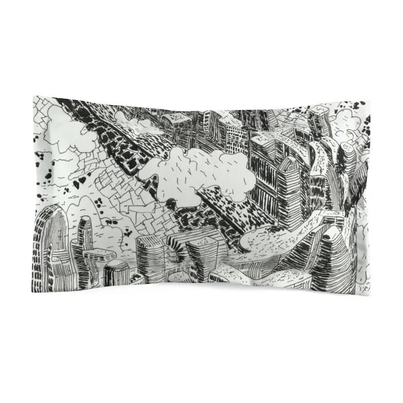 Cool Art Microfiber Pillow Sham 15  Retro custom gift image 0