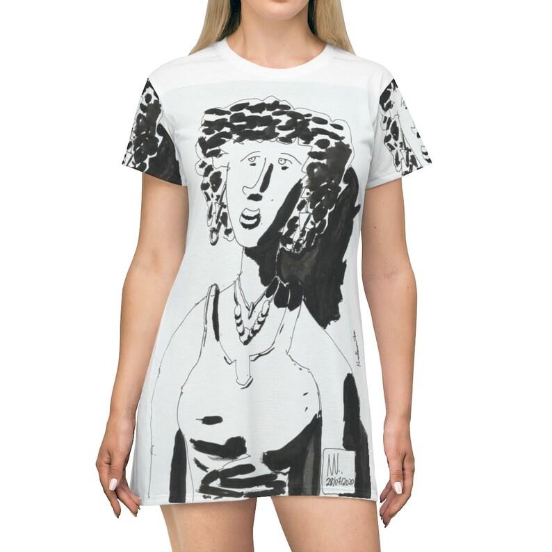 Urban Art T-Shirt Dress 12  Retro custom gift petite plus image 0