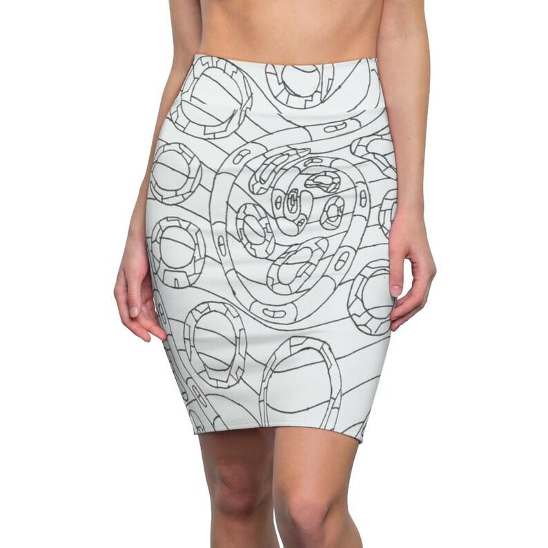 Urban Art Pencil Skirt 1  Retro custom gift  skirts dresses image 0