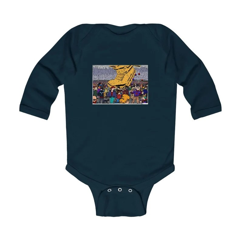 Urban Art Baby Onesie 2  Retro custom gift gender neutral image 0