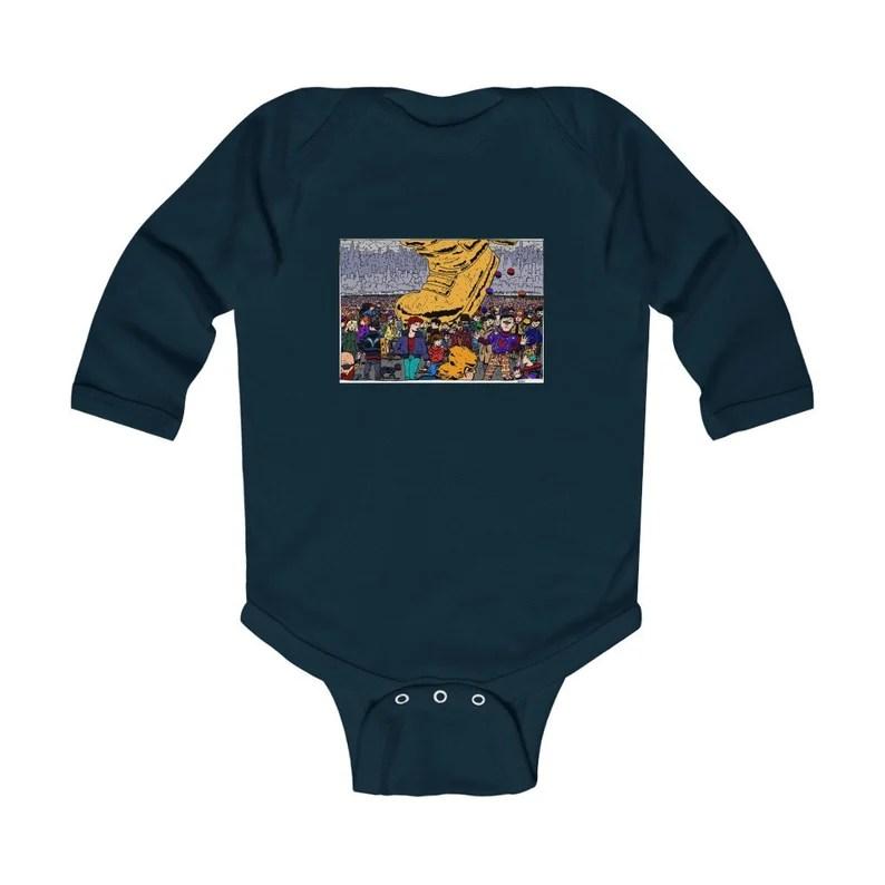 Urban Art Baby Onesie 2  Retro custom gift gender neutral image 0