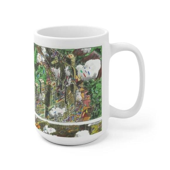 Urban Art Mug 2 sizes 77  Retro custom gift unique mugs image 0