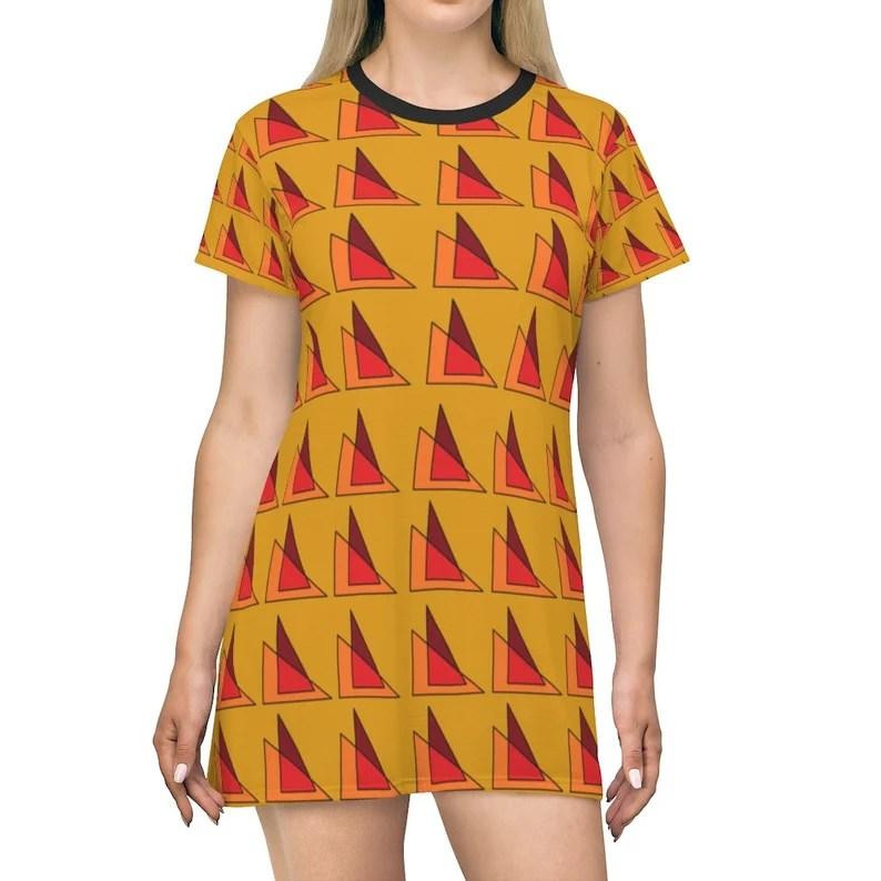 Cool Art T-Shirt Dress 16  Retro custom gift petite plus image 0