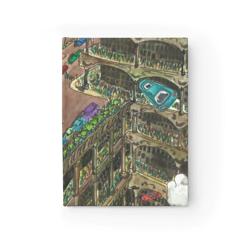 Blank Journal With Urban Art Cover 42  Retro custom gift image 0