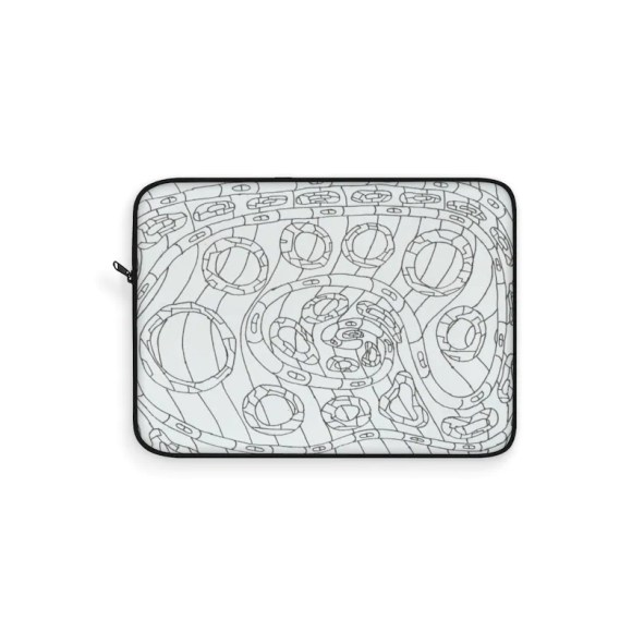 Urban Art Laptop Sleeve 22  Retro custom gift line art pop image 0