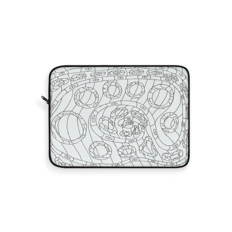 Cool Art Laptop Sleeve 22  Retro custom gift line art pop image 0