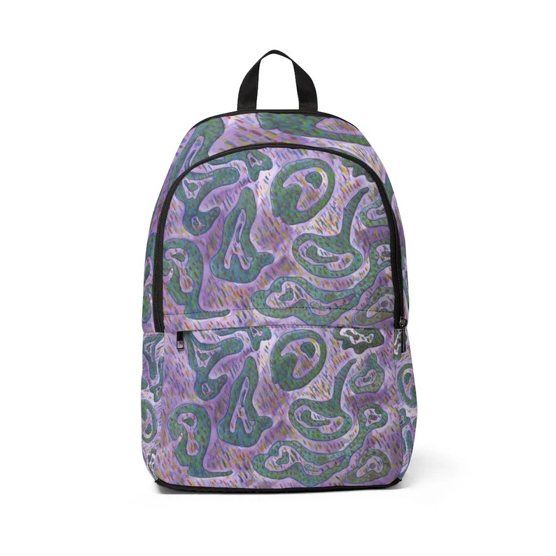 Cool Art Mid-sized Backpack 16  Retro custom gift  backpacks image 0