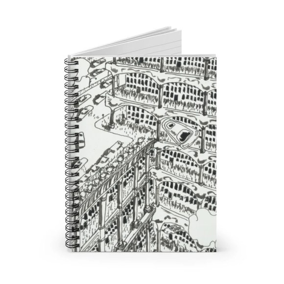 Ruled Line Spiral Notebook With Urban Art Cover 29  Retro image 0
