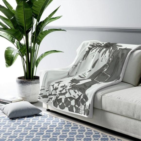 Cool Art Fleece Blanket 9  Retro custom gift aesthetic line image 0