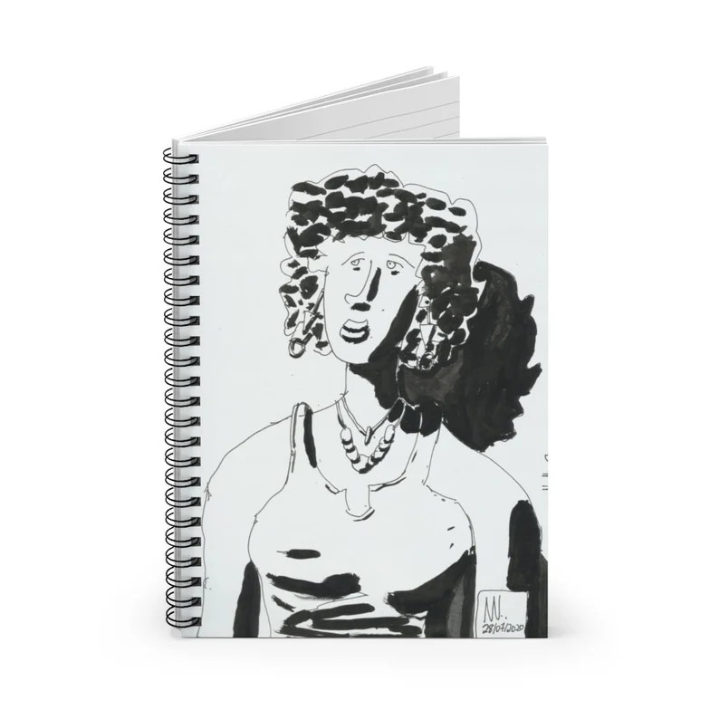 Ruled Line Spiral Notebook With Urban Art Cover 25  Retro image 0
