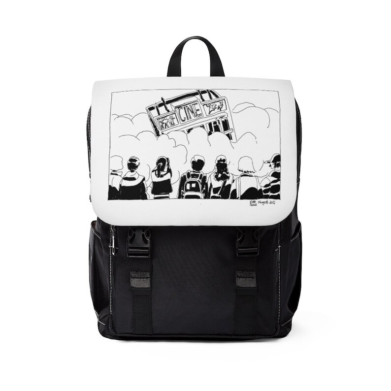 Urban Art Canvas Mini Backpack 6  Retro custom gift image 0
