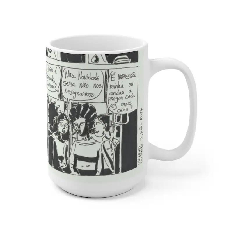 Urban Art Mug 2 sizes 42  Retro custom gift unique mugs image 0