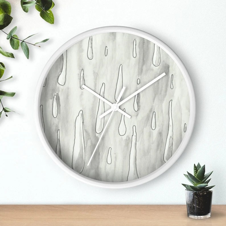 Urban Art Wall Clock 3  Retro custom gift designer image 0