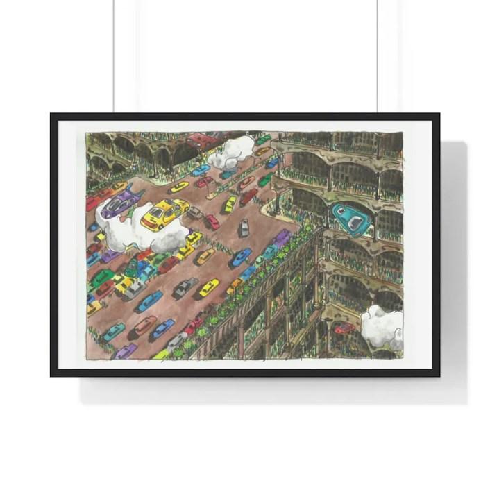 Urban Art Framed Poster 52  Retro custom gift urban pop image 0