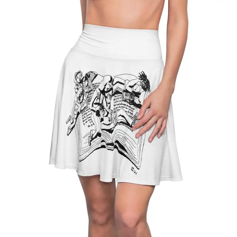 Urban Art Skater Skirt 2  Retro custom gift  skirts dresses image 0