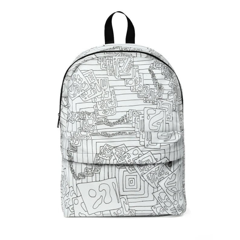 Urban Art Large Backpack 9  Retro custom gift  backpacks image 0