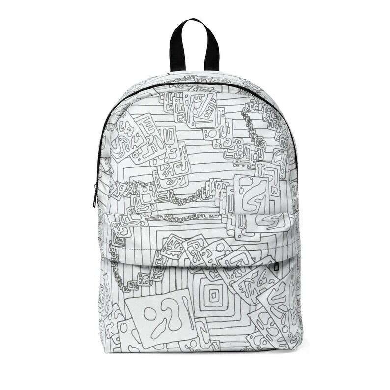Cool Art Large Backpack 9  Retro custom gift  backpacks mini image 0