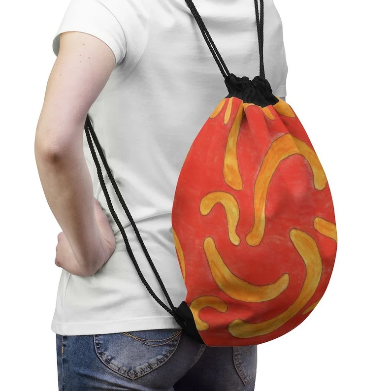 Cool Art Drawstring Bag 8  Retro custom gift aesthetic pop image 0
