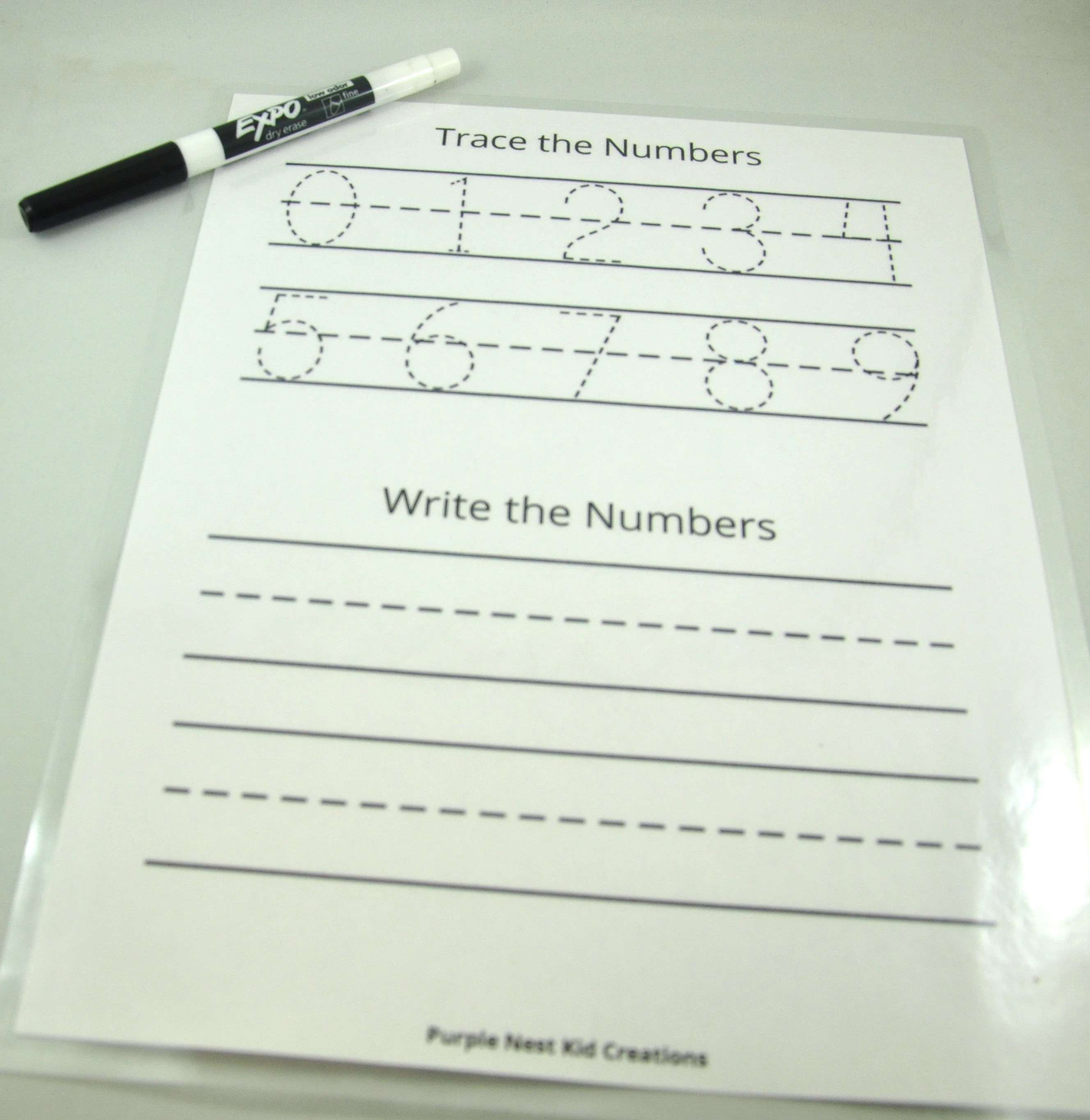 Trace Write Numbers Worksheet Counting Learn To Write