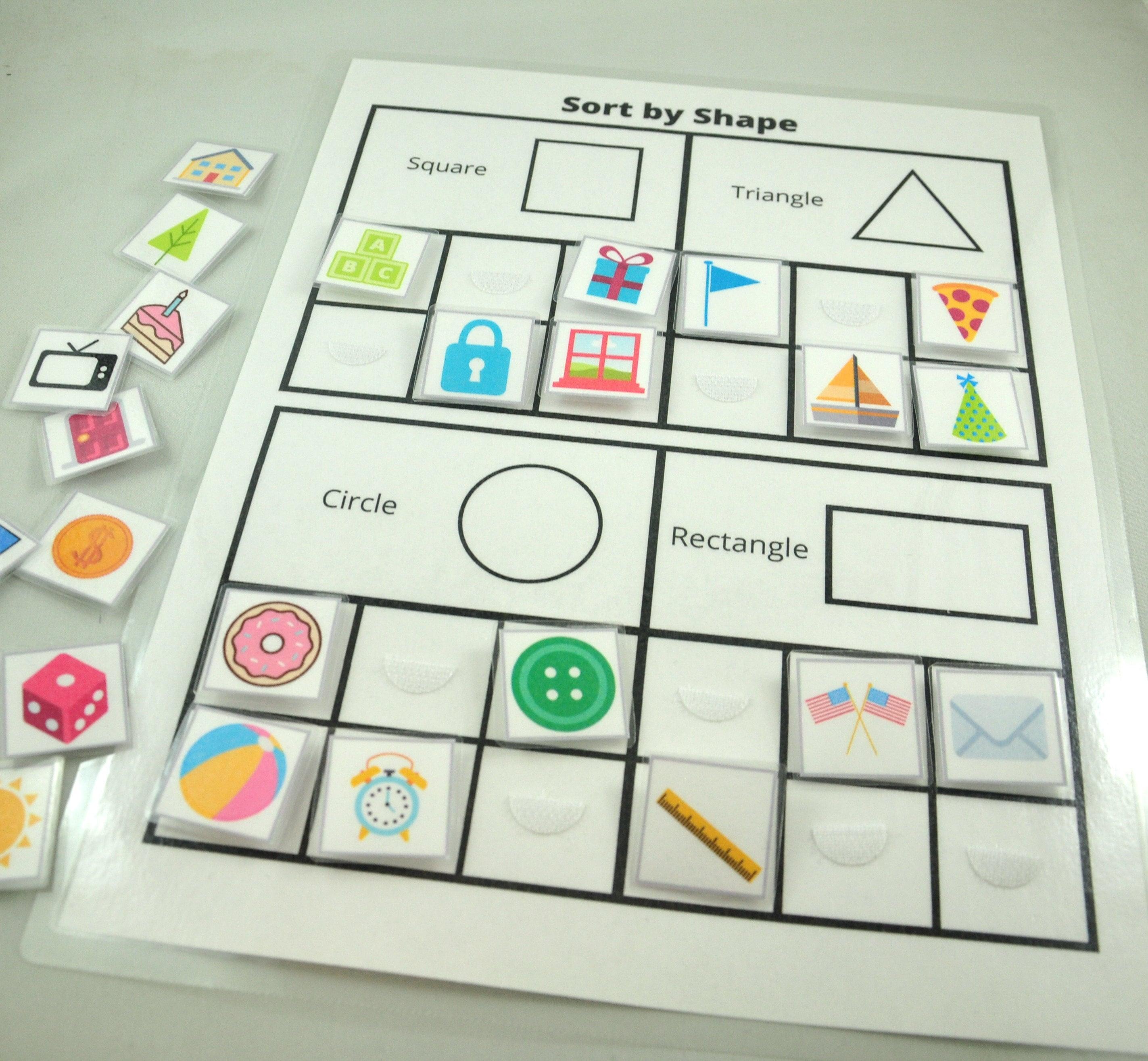 Sort By Shape Worksheet Shape Sorting Game Educational
