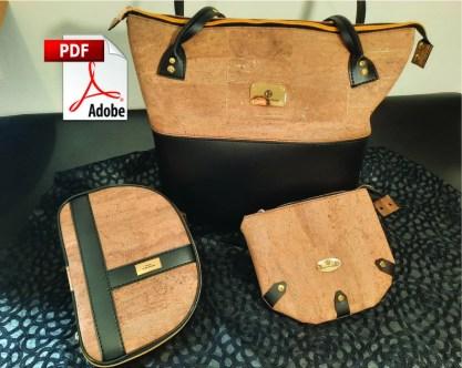 Patron Kit Kholiz sac cabas trousse pochette DIY Tuto couture image 0