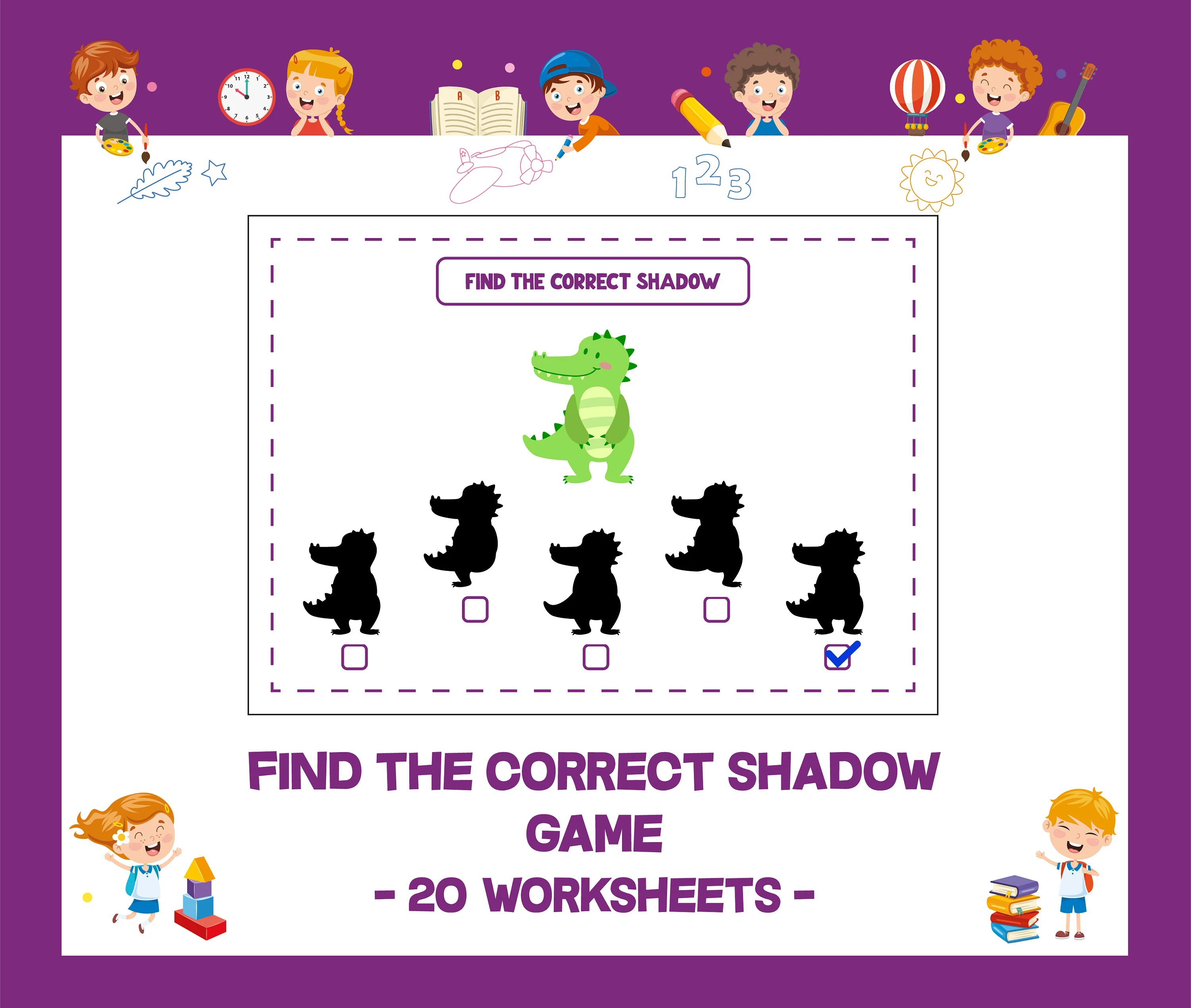 Find The Correct Shadow Game Printable Worksheet Homework