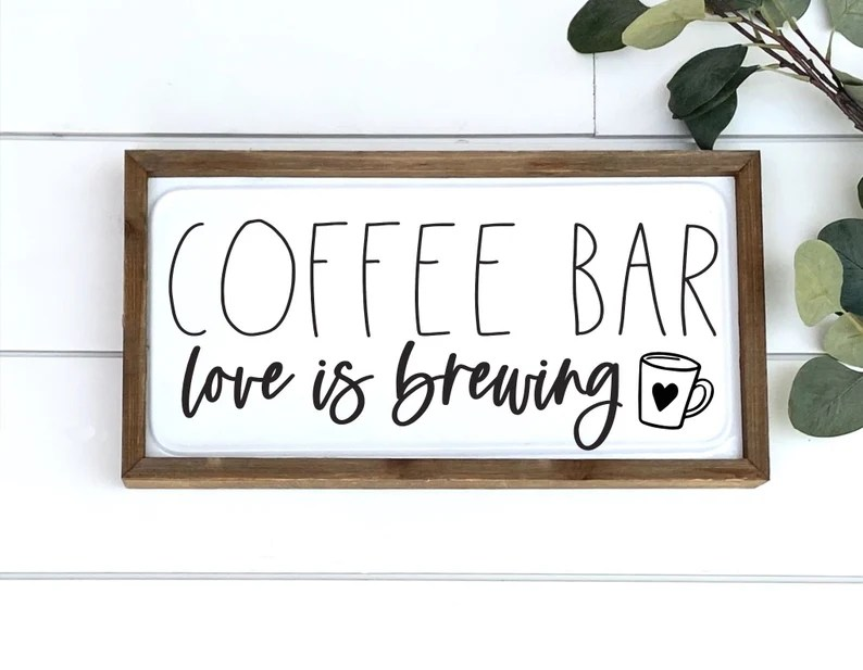 Download Coffee Bar Love Is Brewing SVG Cut File Coffee Quote SVG ...