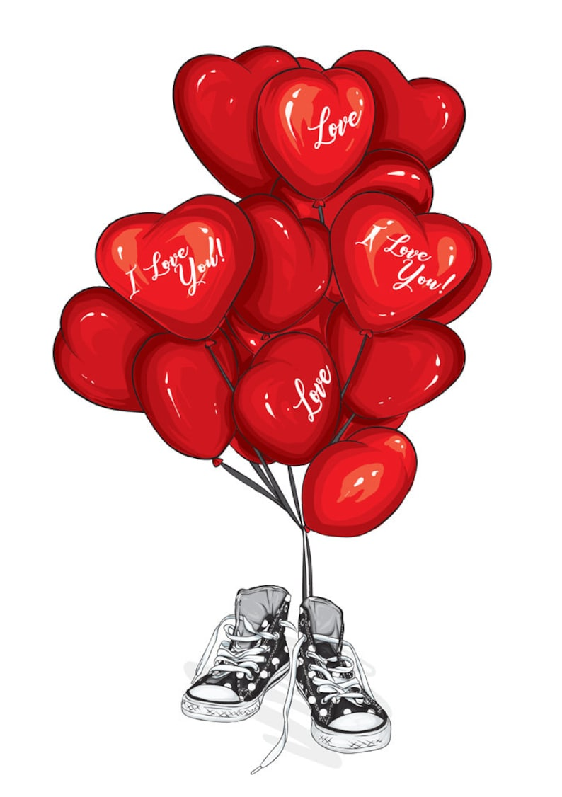 Download Loving couple with heart-shaped balloons Svg love Bundle ...