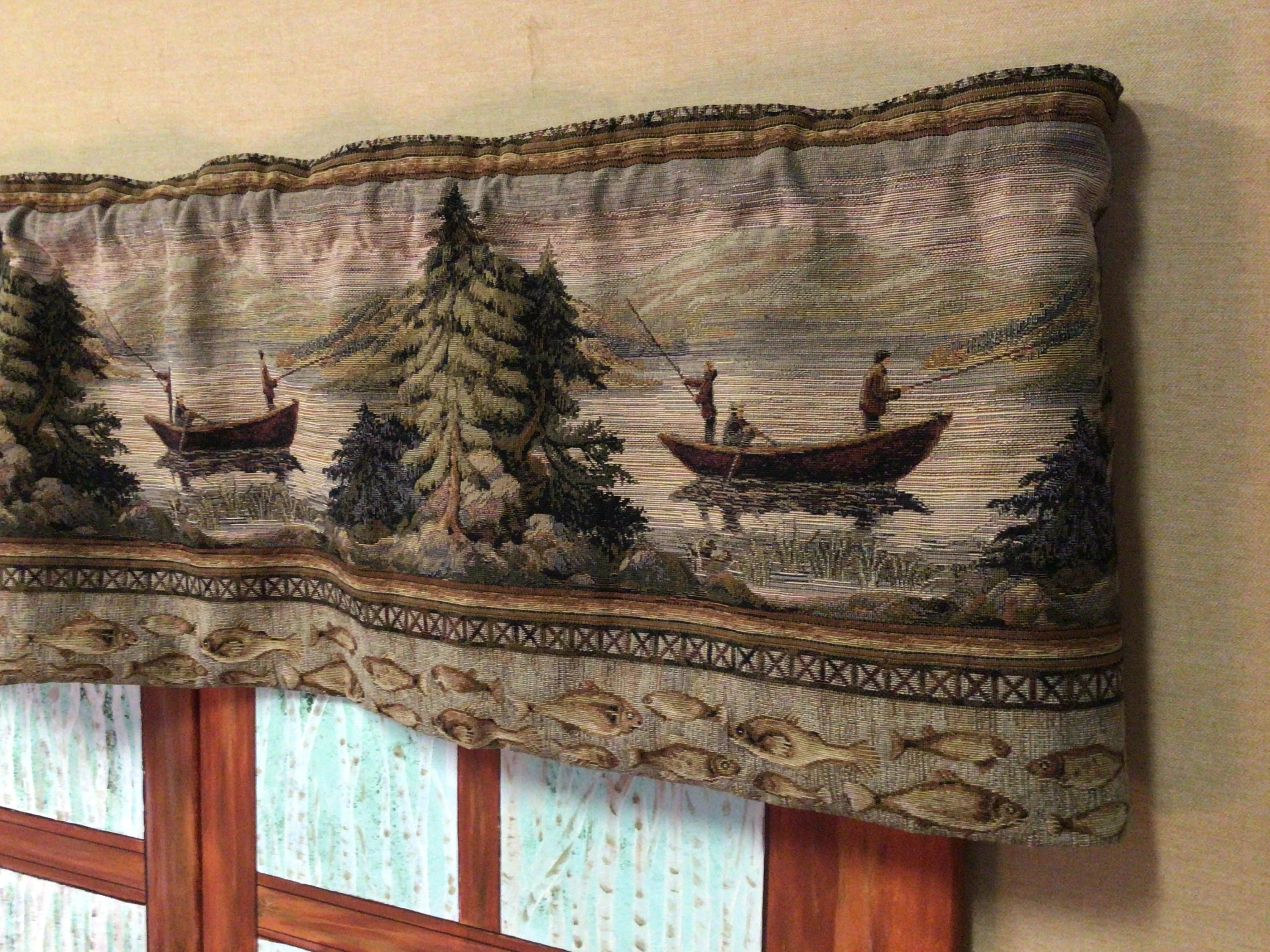 cabin curtains etsy