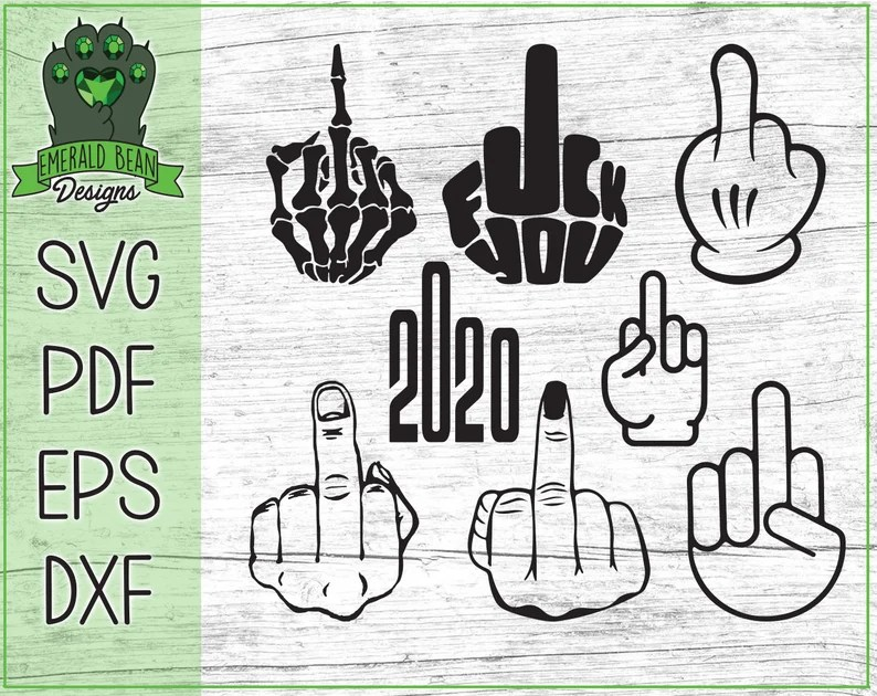 Download 8 Middle Finger Bundle SVG Pdf Eps Dxf files for Cricket ...