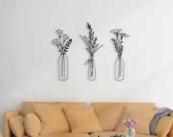 Flower Wall Art Etsy