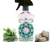 Sage Smudge in a Bottle, Sage + hint of Ginger Multipurpose Cleaner (16 fl. oz) by Namaste Home, Clearing Blend