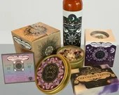 Cancer Gift Set, Zodiac Inspired Spa Bundle, by Namaste Home, Candle w/ Rose Quartz, Bath Bomb, Handmade Bar Soap, Aromatherapy Lotion