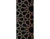Tessellation Stars Yoga Mat, Sacred Geometry, Geometric, Gold and Black, Modern, Boho, Premium Mat, Custom Printed with Art