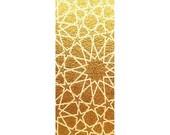Golden Tessellations Yoga Mat, Sacred Geometry, Tessellation Art, Meditation Art, Sublimation Printed Premium Mat By Namaste Home