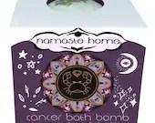 Cancer Bath Bomb, Cancer Zodiac Gift, Fizzy Bath Bomb, Zodiac Bath Bomb, Energy Activating Bath Bomb by Namaste Home