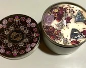 Pisces Candle, Pisces Gift, Zodiac Candle, Astrology Candle, Crystal Candle, Handmade Candle, Zodiac Gift