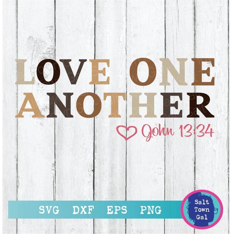 Download Love One Another Svg-Christian Svg-Bible Verse Svg-Black ...